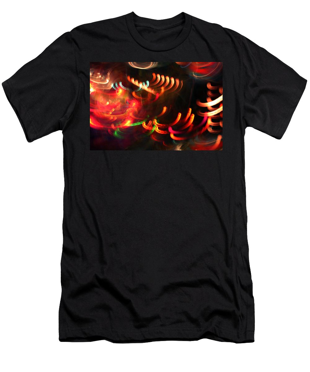 Curves Men's T-Shirt (Athletic Fit) featuring the photograph Color Light Motion by Ric Bascobert