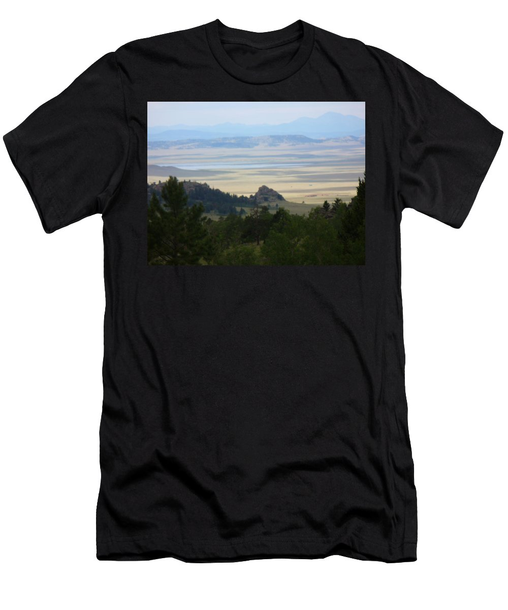 Lyle Men's T-Shirt (Athletic Fit) featuring the painting Colorado - Blue by Lord Frederick Lyle Morris