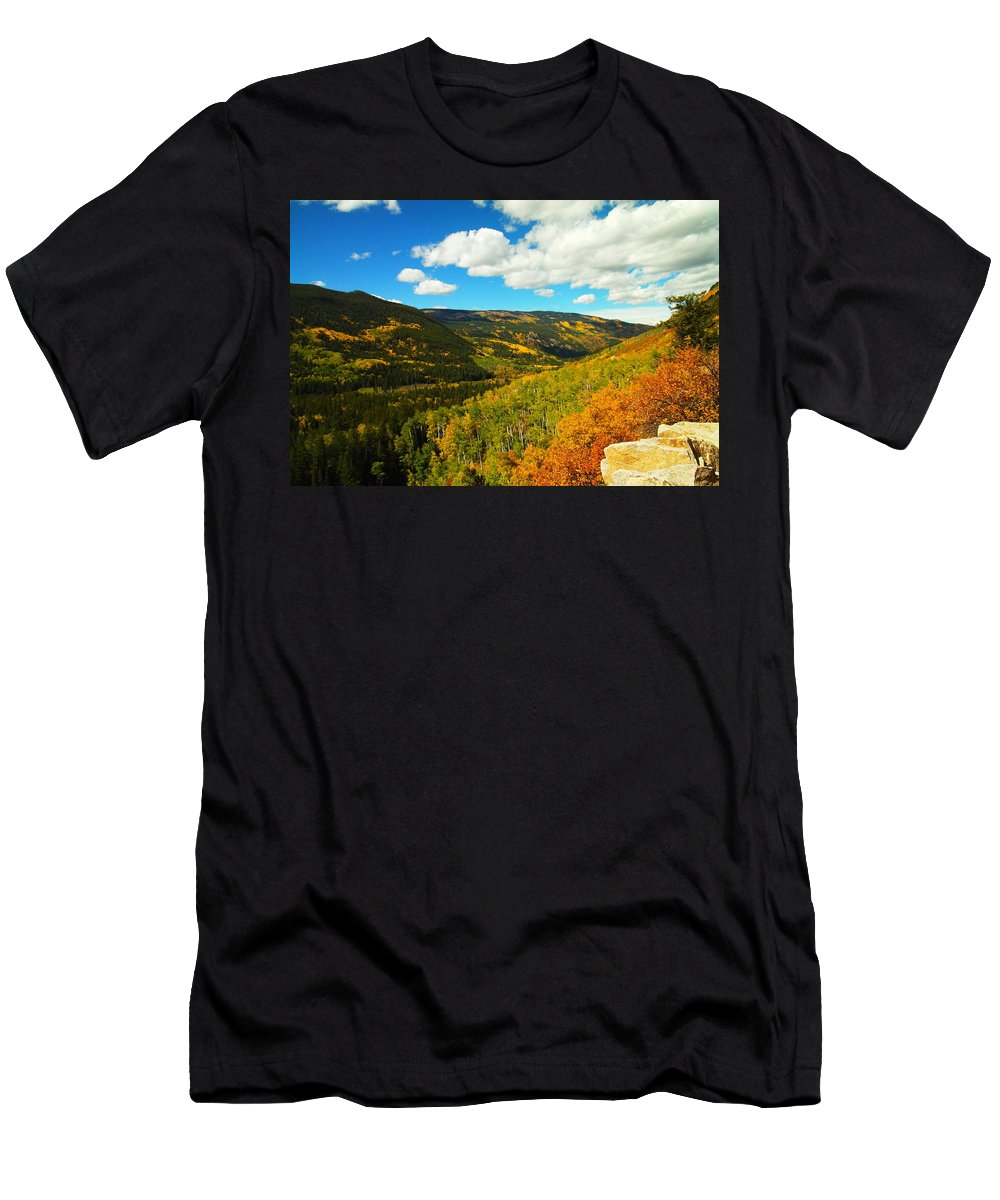 Mountains Men's T-Shirt (Athletic Fit) featuring the photograph Colorado In Autumn by Jeff Swan