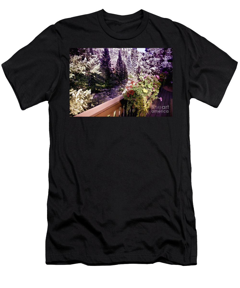 Vail Men's T-Shirt (Athletic Fit) featuring the photograph Colorado Landscape by Madeline Ellis