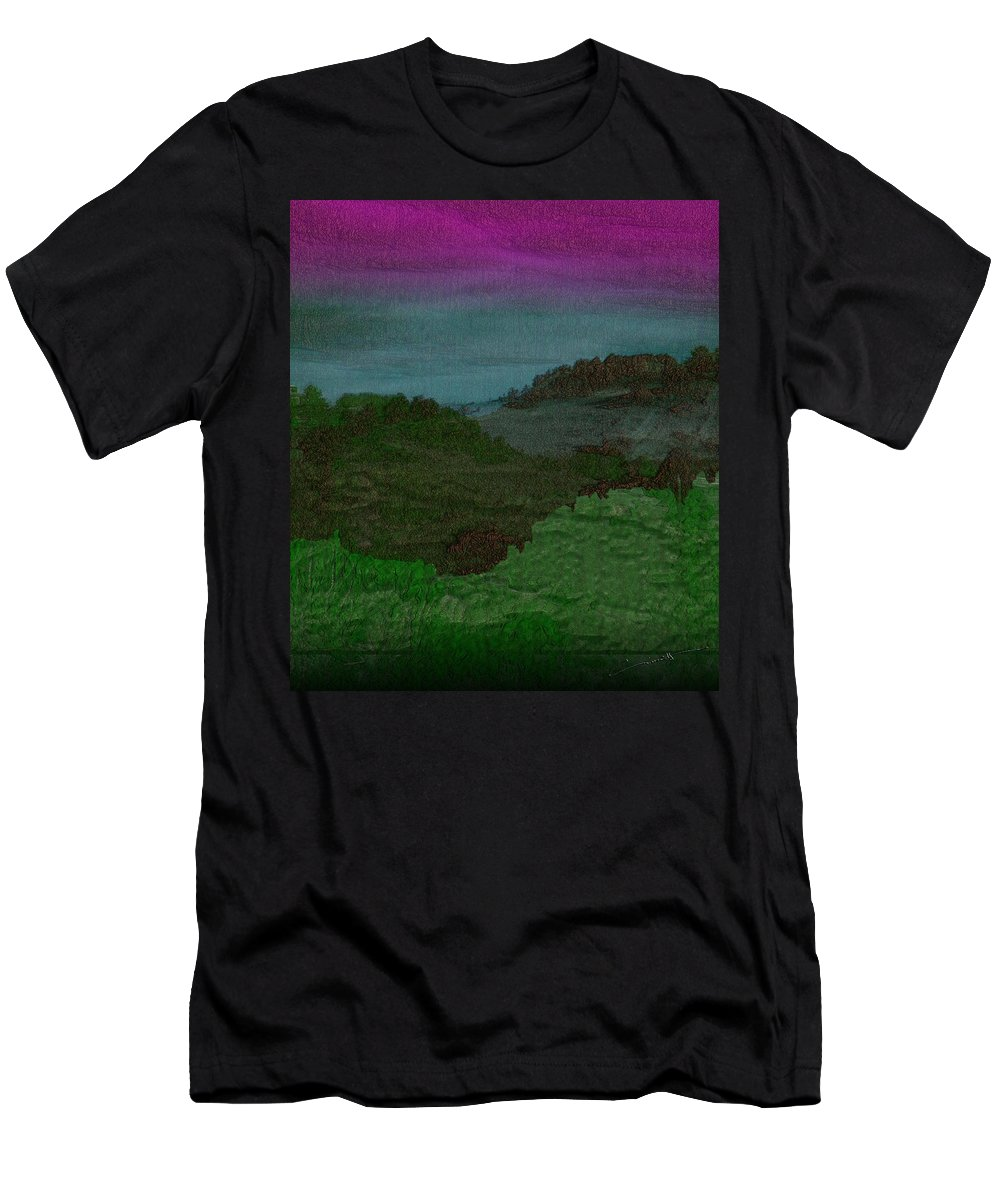Colorado Men's T-Shirt (Athletic Fit) featuring the digital art Colorado Landscape by Michael Hurwitz