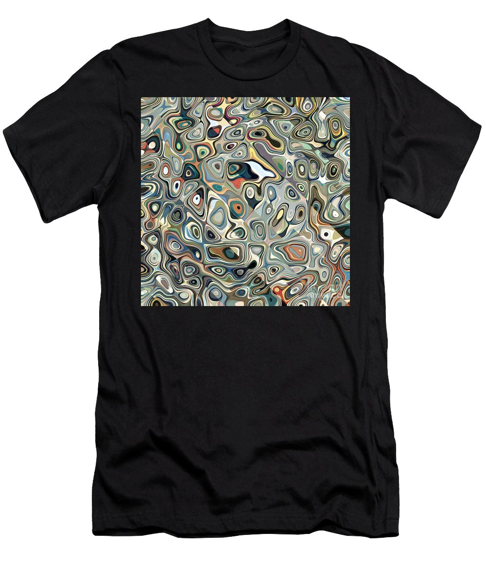 Graphic Design Men's T-Shirt (Athletic Fit) featuring the digital art Colorful Abstract Shapes 2 by Phil Perkins
