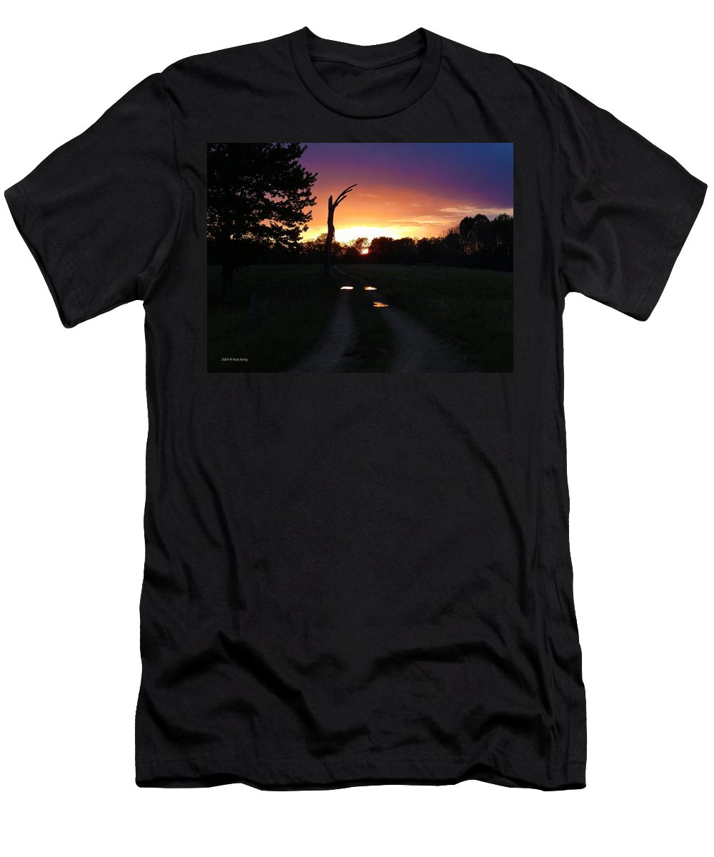 Mudholes Men's T-Shirt (Athletic Fit) featuring the photograph Colorful Mudholes by Nick Kirby