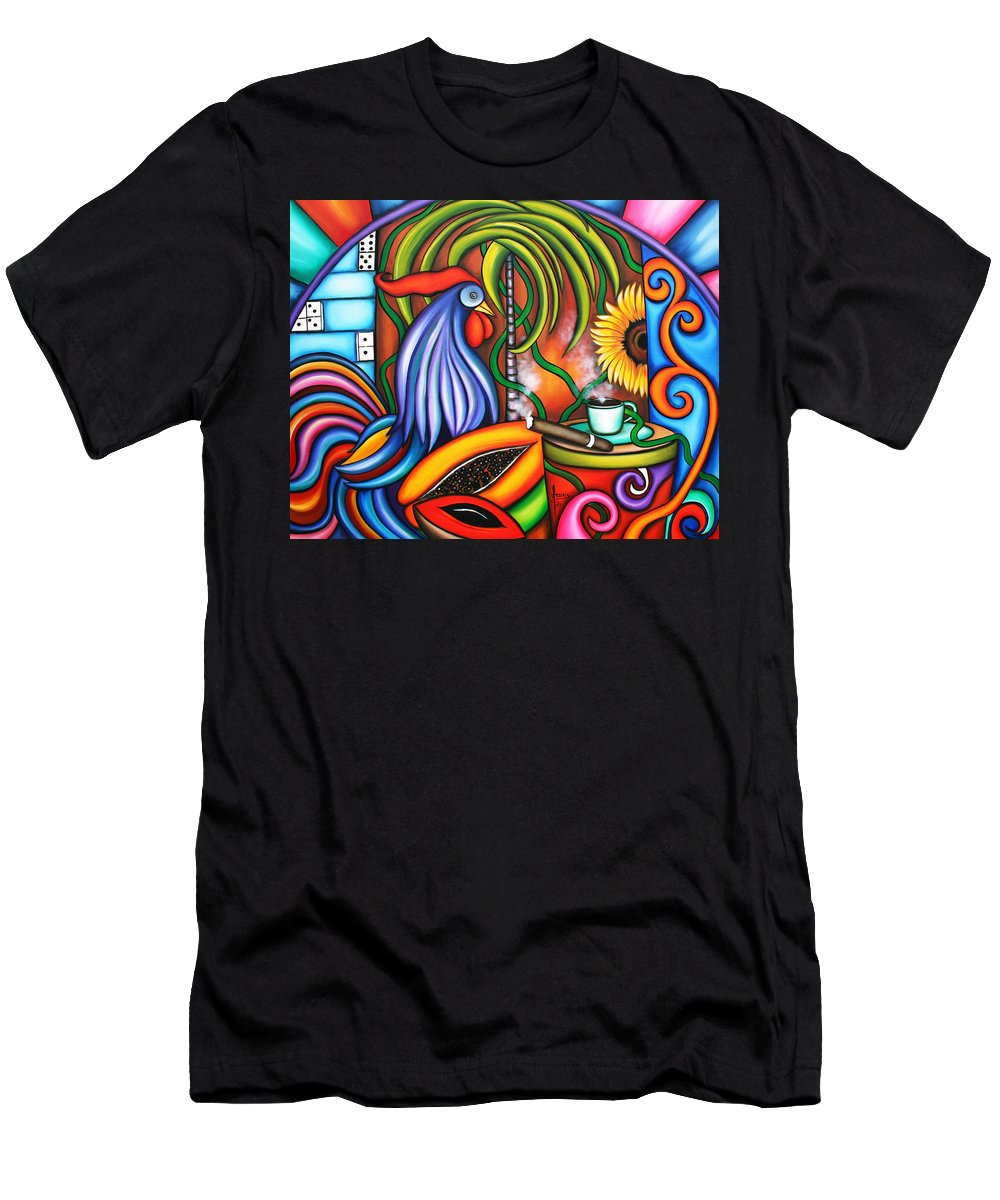 Cuba Men's T-Shirt (Athletic Fit) featuring the painting Colors Of My World by Annie Maxwell