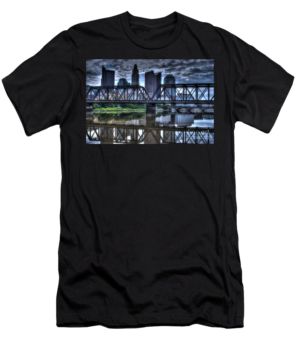 Columbus Men's T-Shirt (Athletic Fit) featuring the photograph Columbus Ohio Downtown IIi by J M Lister
