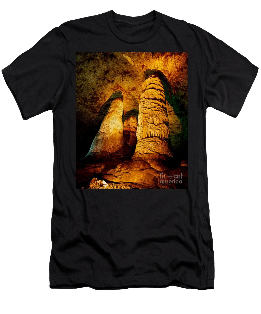Carlsbad Caverns Men's T-Shirt (Athletic Fit) featuring the photograph Dome And Column by Tracy Knauer
