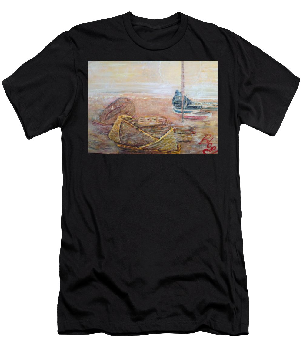 Beach T-Shirt featuring the painting Colva by Peggy Blood