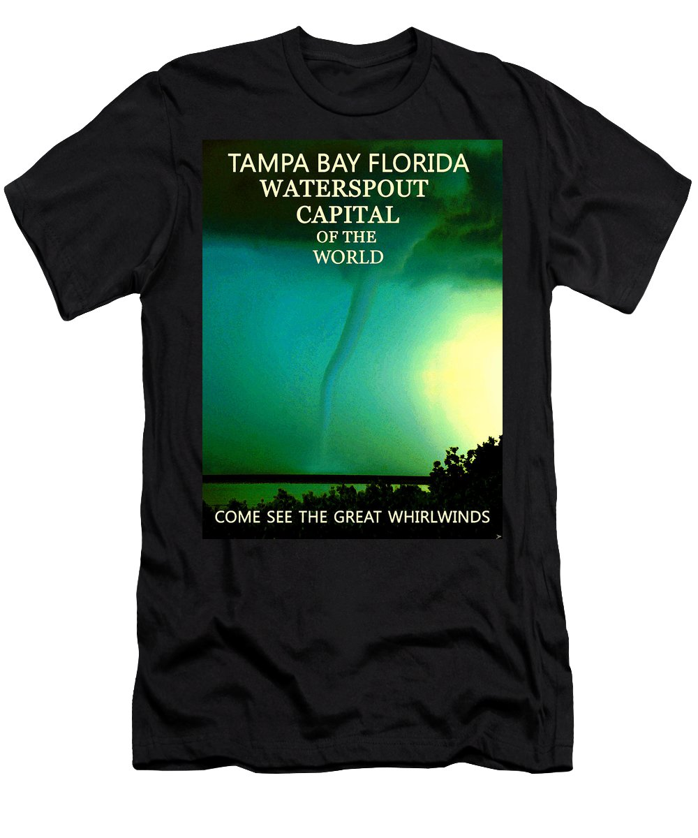 Tampa Bay Florida Men's T-Shirt (Athletic Fit) featuring the painting Come See The Great Whirlwinds by David Lee Thompson