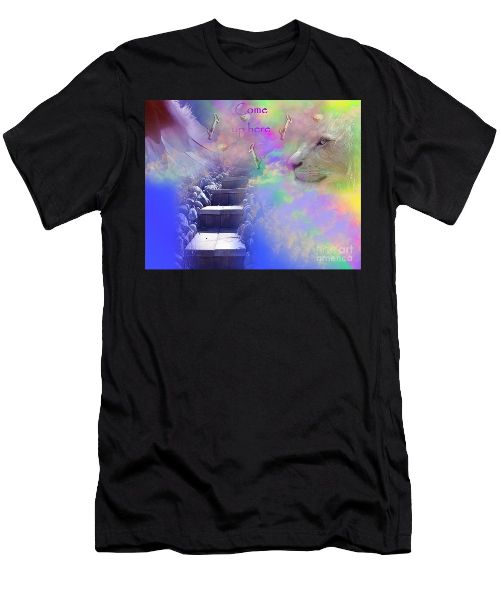 Heavenly Men's T-Shirt (Athletic Fit) featuring the digital art Come Up Here by Jewell McChesney