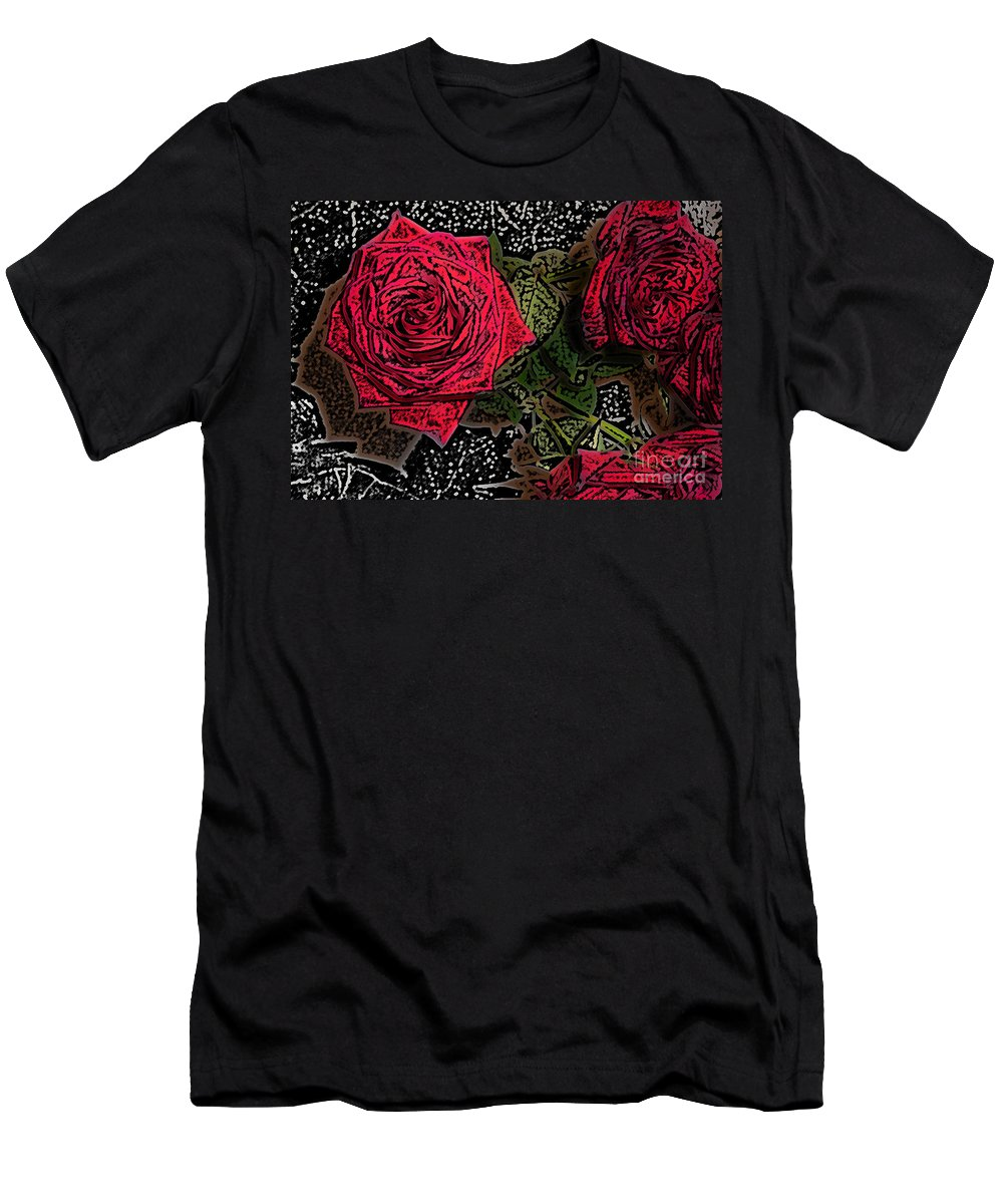 Rose Men's T-Shirt (Athletic Fit) featuring the photograph Comic Book Roses by Minding My Visions by Adri and Ray