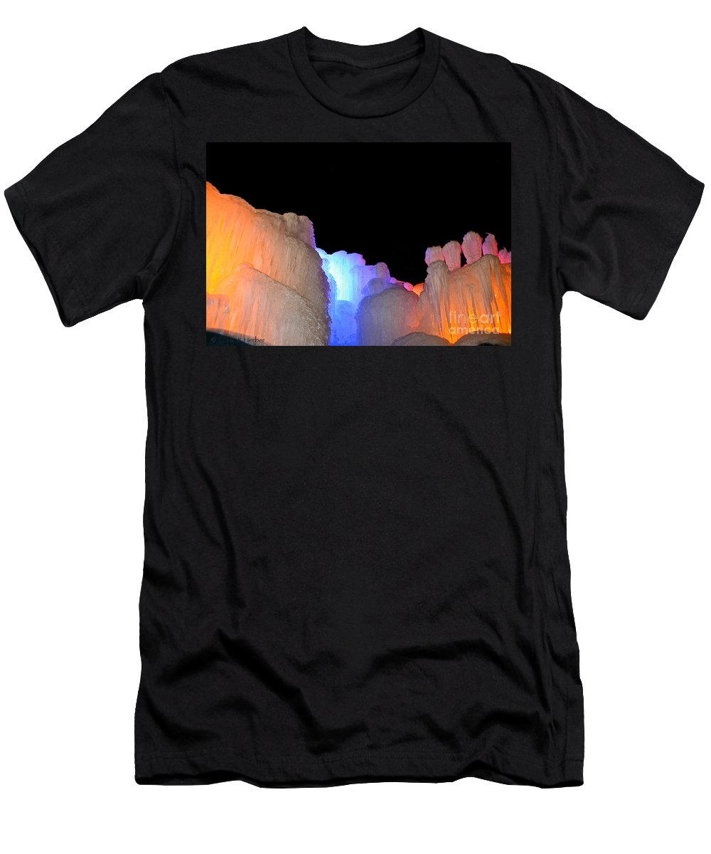 Ice Men's T-Shirt (Athletic Fit) featuring the photograph Confetti Colors by Susan Herber