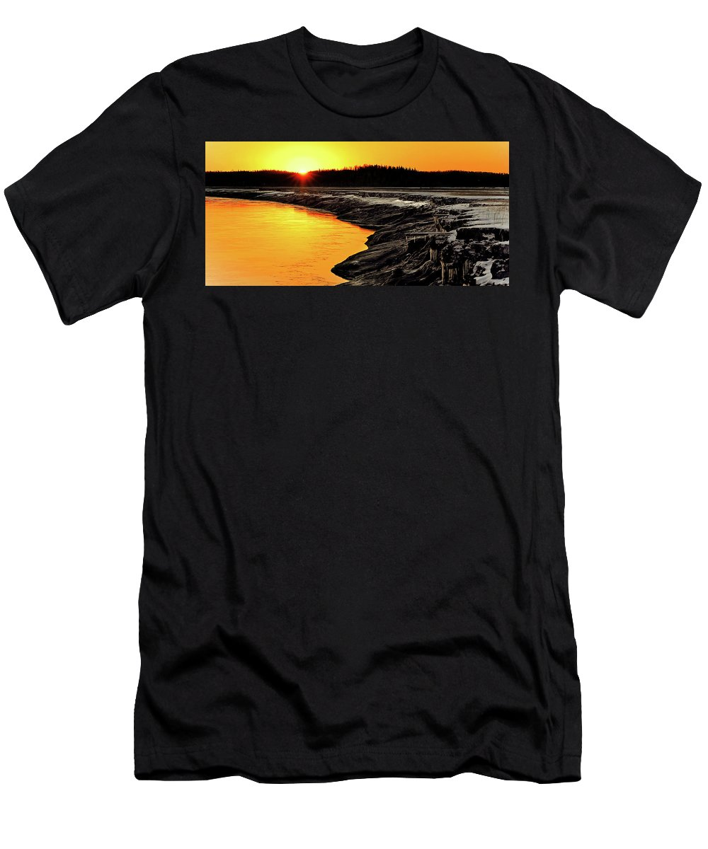 Alaska Men's T-Shirt (Athletic Fit) featuring the photograph Contrasts In Nature by Ron Day