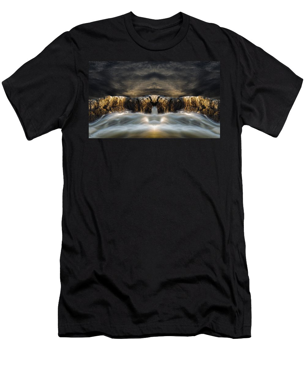 Seascape.landscape Men's T-Shirt (Athletic Fit) featuring the photograph Convergence by Bob Orsillo