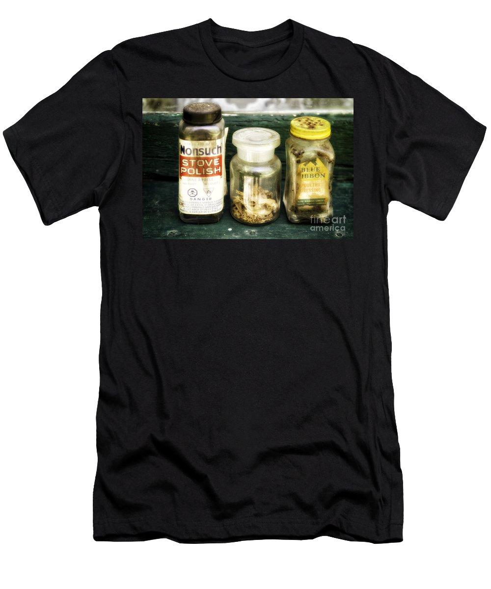 Kitchen Men's T-Shirt (Athletic Fit) featuring the photograph Cook's Secrets by Les Palenik