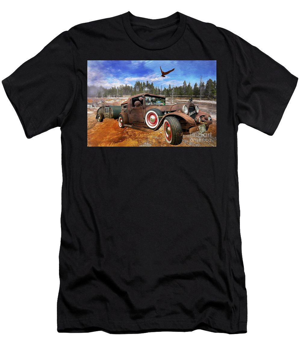 Cool Rusty Classic Ride Men's T-Shirt (Athletic Fit) featuring the photograph Cool Rusty Classic Ride by Liane Wright