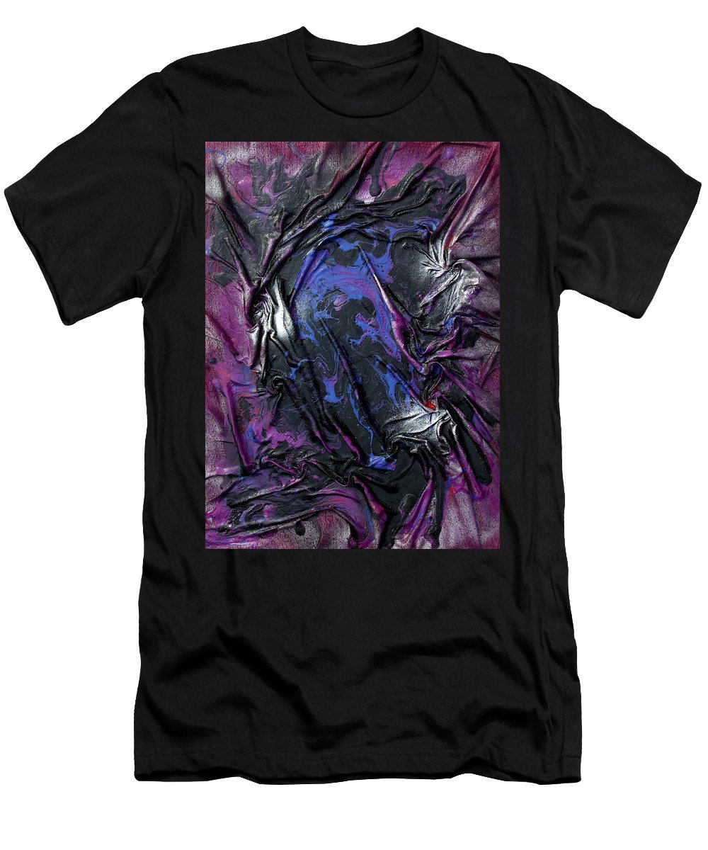 Abstract Men's T-Shirt (Athletic Fit) featuring the mixed media Cool Spirit by Angela Stout