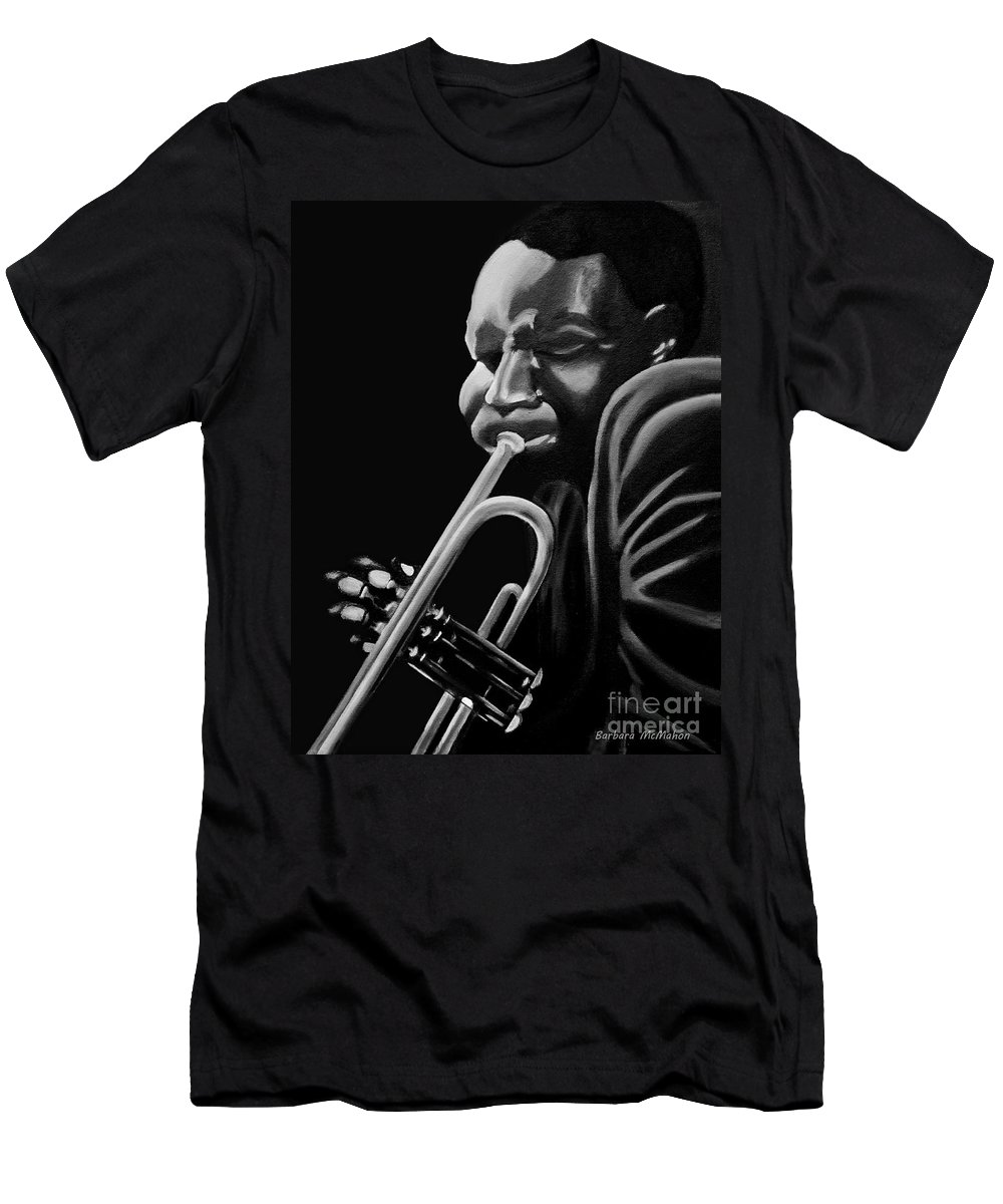 Cootie Williams Men's T-Shirt (Athletic Fit) featuring the painting Cootie Williams by Barbara McMahon