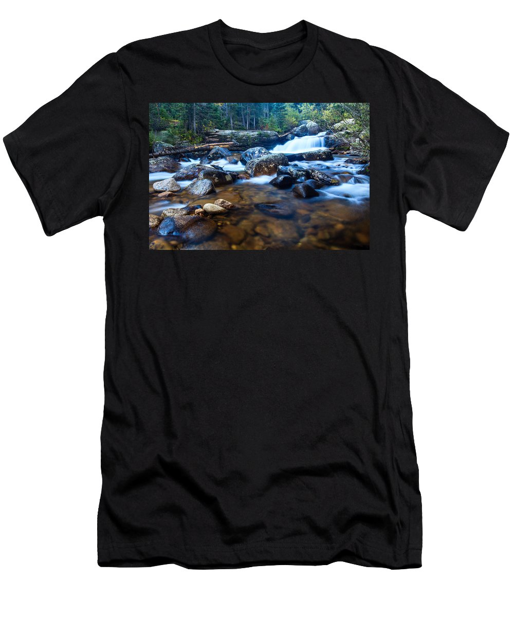 Copeland Falls Men's T-Shirt (Athletic Fit) featuring the photograph Copeland Falls 3 by Ben Graham