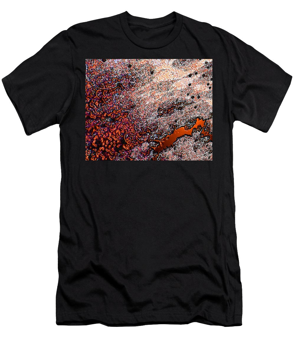 Abstract Men's T-Shirt (Athletic Fit) featuring the photograph Copperspill by Stephanie Grant