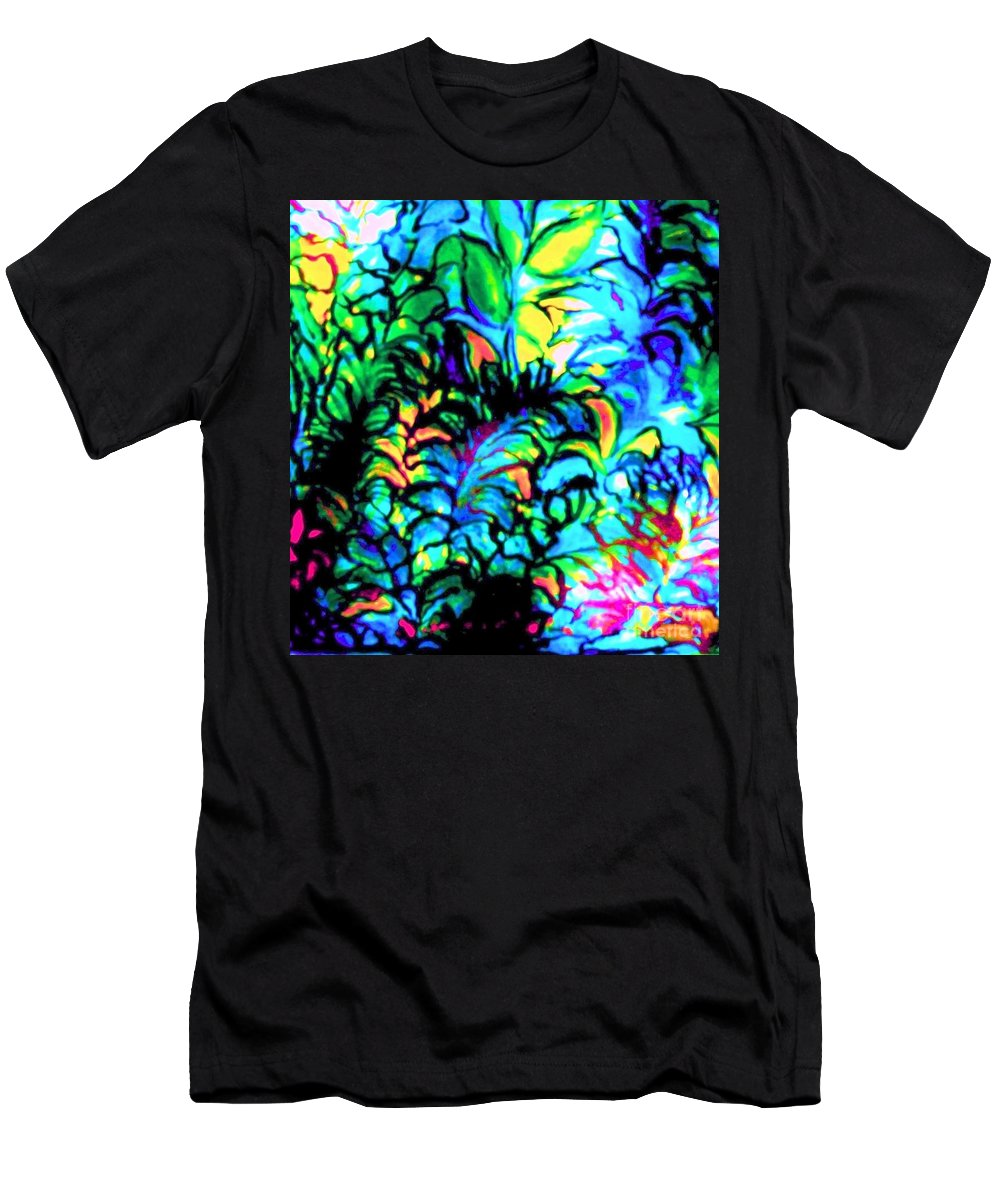 Rainbow Colors Men's T-Shirt (Athletic Fit) featuring the painting Coral Reef Beauty by Hazel Holland
