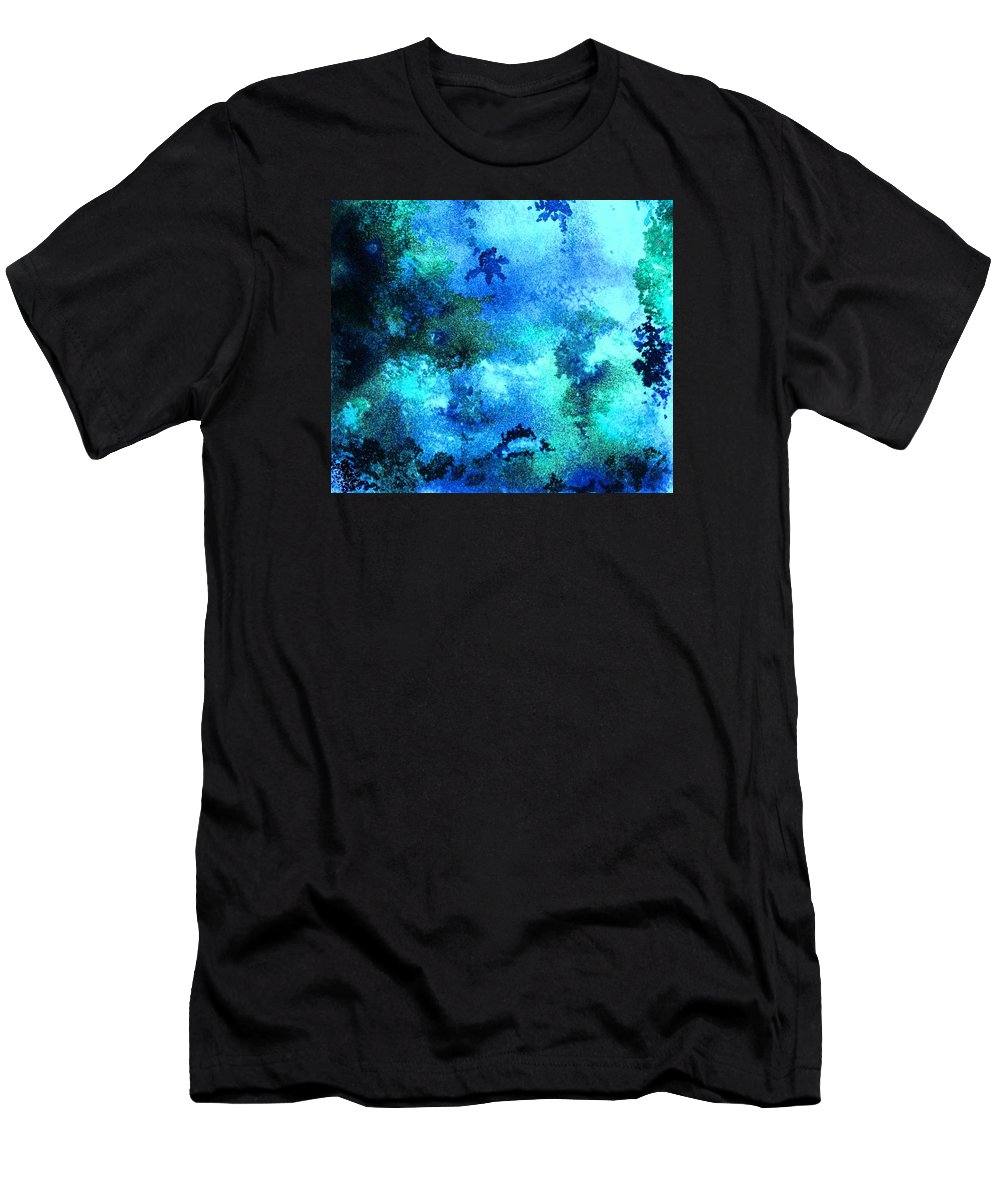 Coral Reef Men's T-Shirt (Athletic Fit) featuring the painting Coral Reef Impression 12 by Hazel Holland
