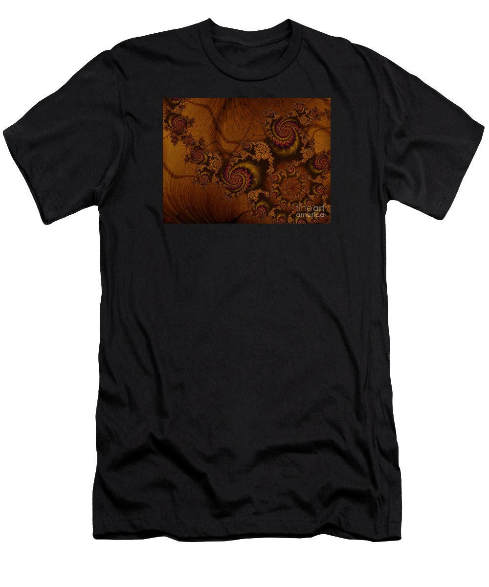 Corners Of The Mind Men's T-Shirt (Athletic Fit) featuring the digital art Corners Of The Mind by Kimberly Hansen