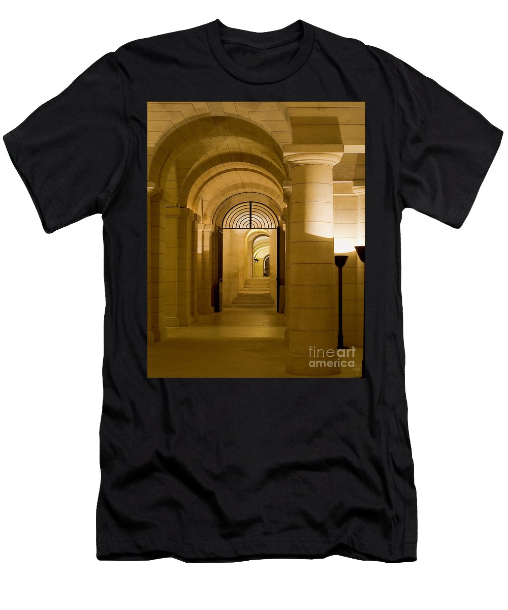Photograph Men's T-Shirt (Athletic Fit) featuring the photograph Corridors by Victoria Harrington