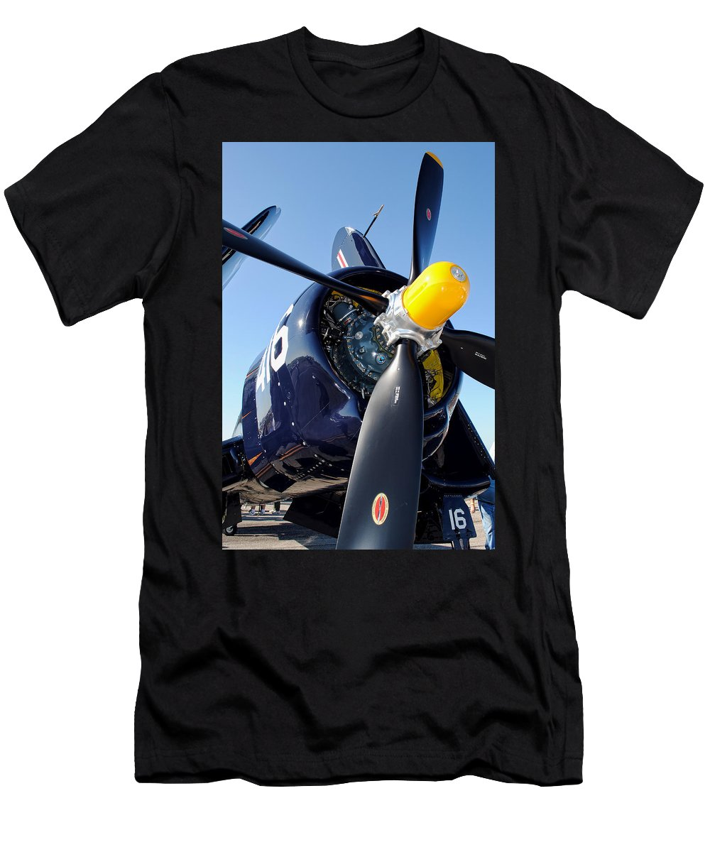 F4u Men's T-Shirt (Athletic Fit) featuring the photograph Corsair by David Hart