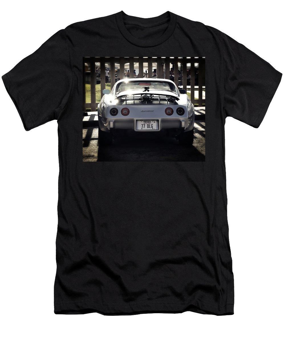 Corvette Men's T-Shirt (Athletic Fit) featuring the photograph Corvette by Savannah Gibbs