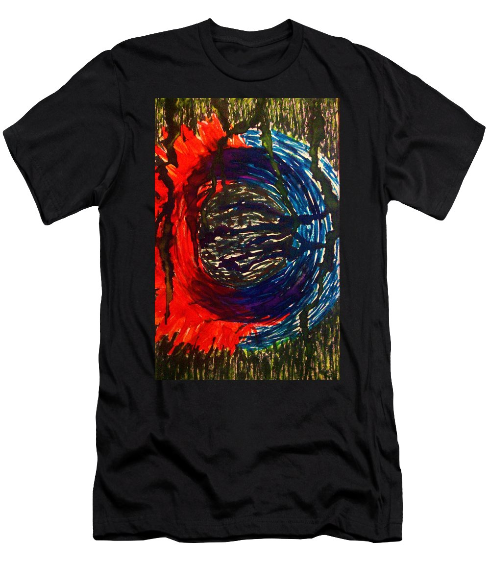 Mandala Men's T-Shirt (Athletic Fit) featuring the painting Countertransference by Crystal Menicola