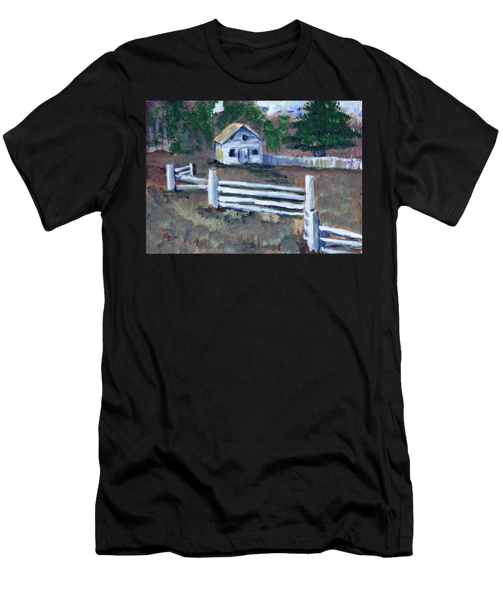 Country Charmer Men's T-Shirt (Athletic Fit) featuring the painting Country Charmer by Gail Daley