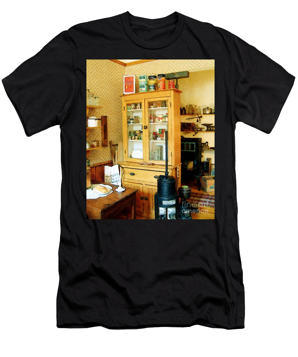 Antiques Men's T-Shirt (Athletic Fit) featuring the painting Country Kitchen Sunshine IIi by RC DeWinter
