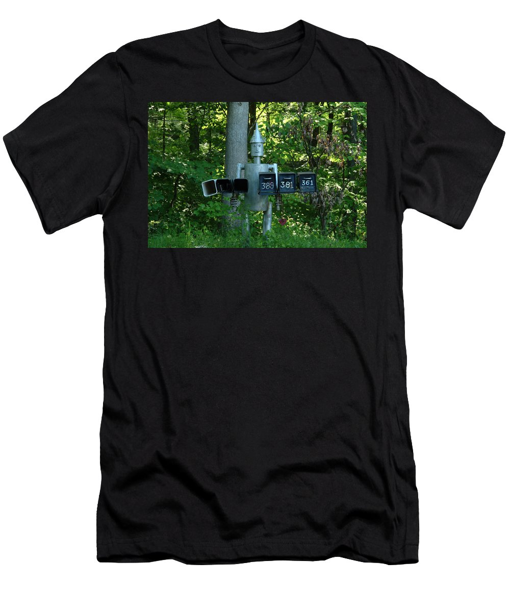 Countryside Men's T-Shirt (Athletic Fit) featuring the photograph Countryside Mailbox #11 by Robert DeFosses