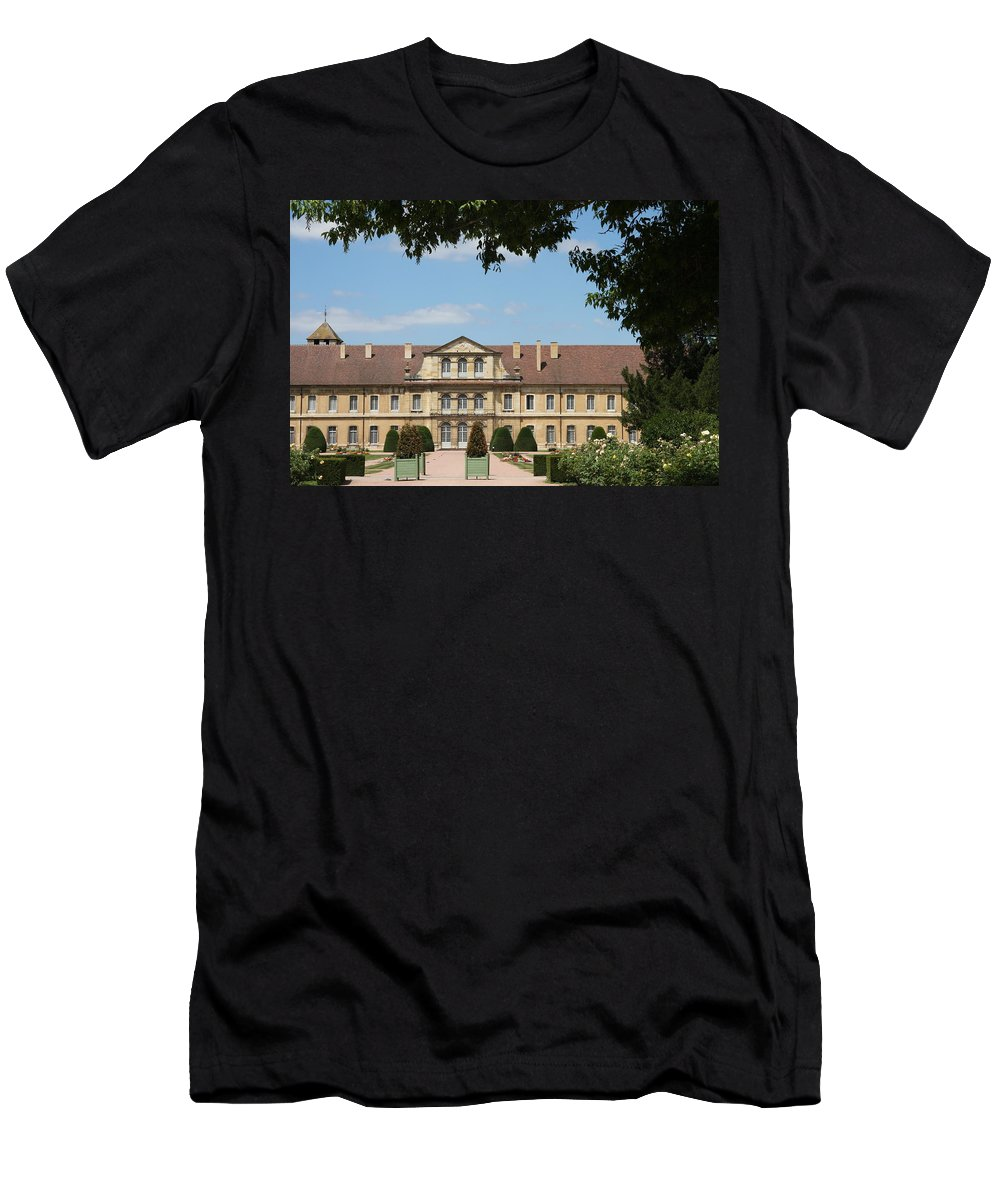 Cloister T-Shirt featuring the photograph Courtyard Cloister Cluny by Christiane Schulze Art And Photography