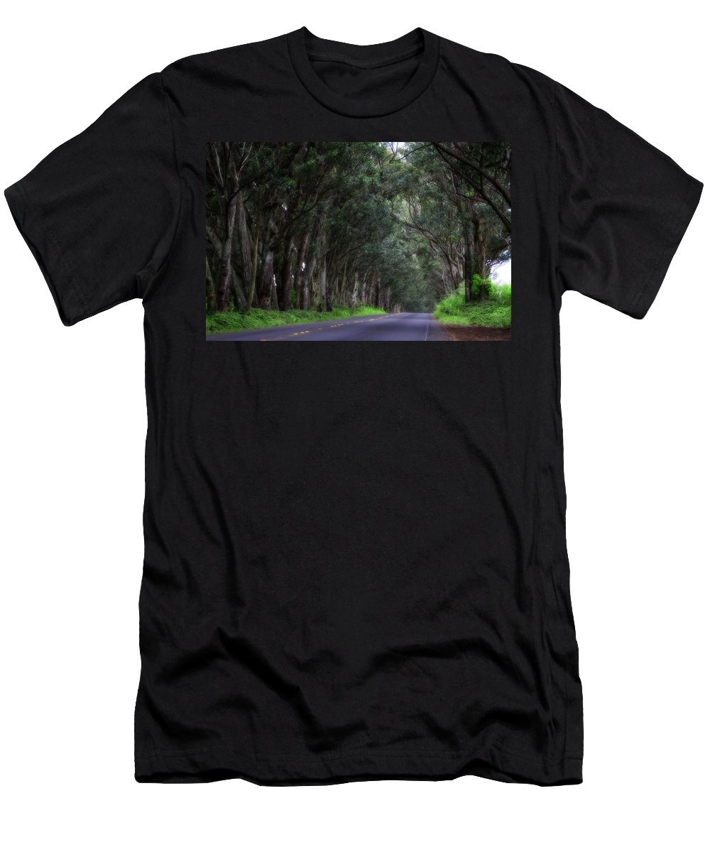 Hawaii Men's T-Shirt (Athletic Fit) featuring the photograph Covered By Trees by Douglas Barnard