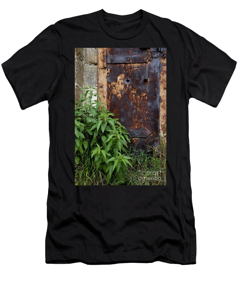 Tower Men's T-Shirt (Athletic Fit) featuring the photograph Covered In Rust by Paul W Faust - Impressions of Light