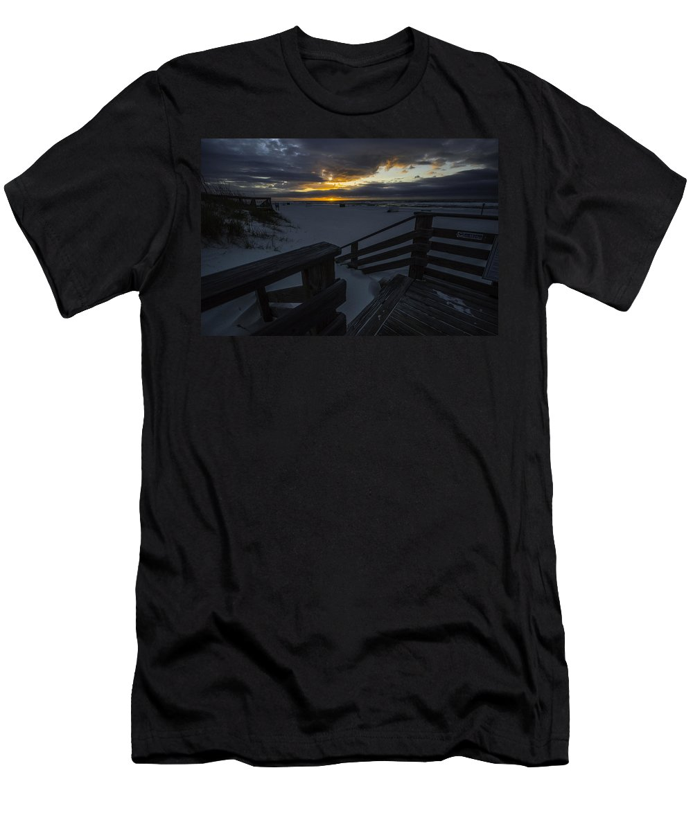 Alabama Men's T-Shirt (Athletic Fit) featuring the digital art Crack Of Dawn by Michael Thomas