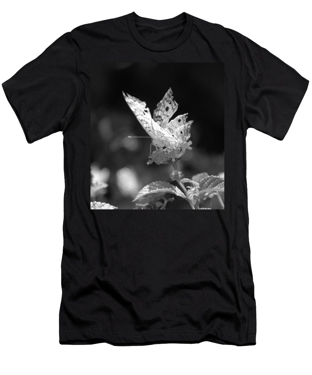Lepidopterology Men's T-Shirt (Athletic Fit) featuring the photograph Cracked Wing by Rob Hans