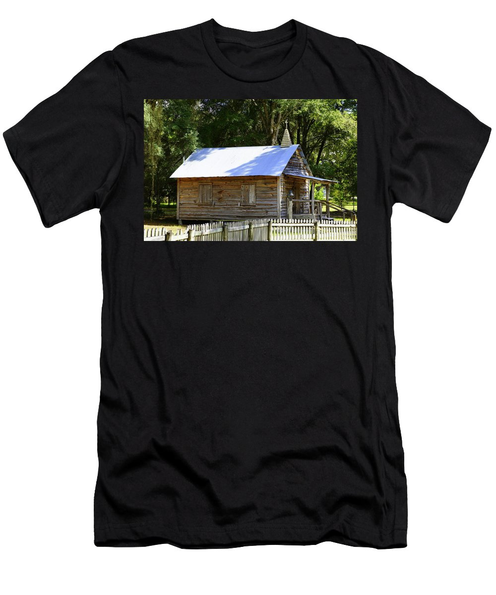 Church Men's T-Shirt (Athletic Fit) featuring the photograph Cracker Church by Laurie Perry