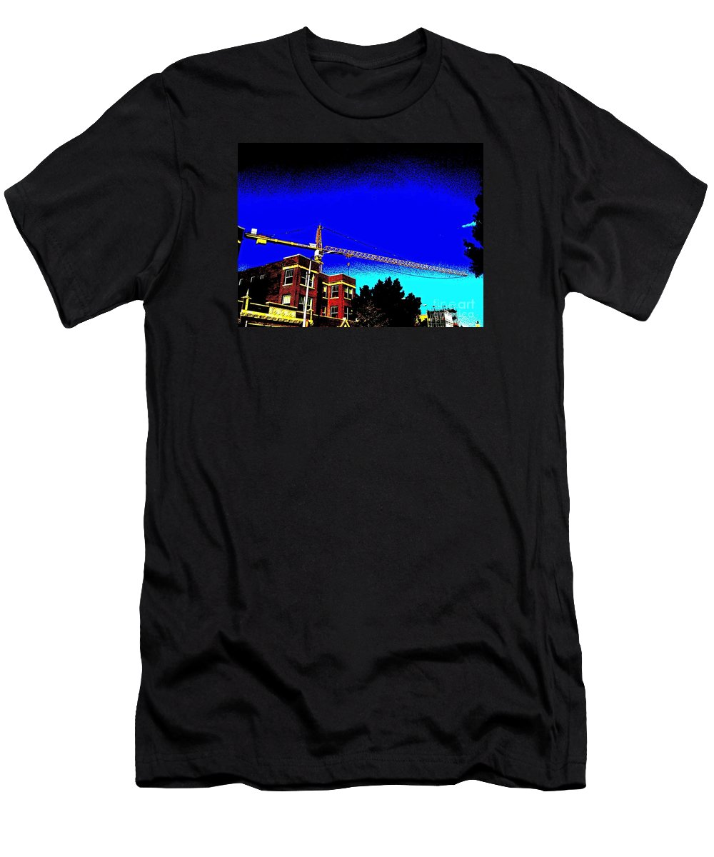 Men's T-Shirt (Athletic Fit) featuring the photograph Crane Full Shot In High Contrast by Kelly Awad