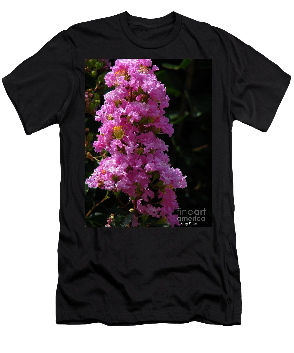 Art For The Wall...patzer Photography Men's T-Shirt (Athletic Fit) featuring the photograph Crape Myrtle by Greg Patzer