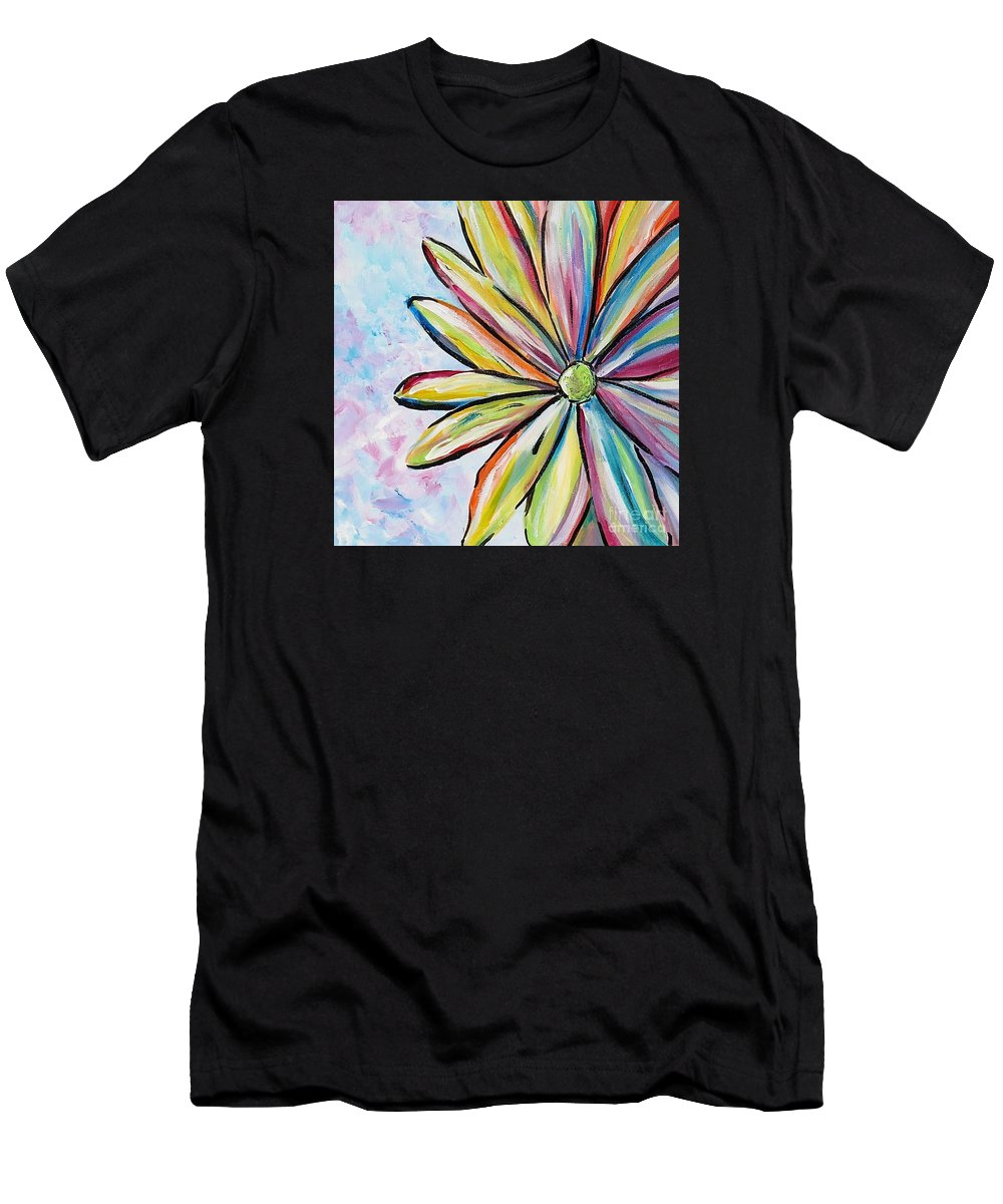 Daisy Men's T-Shirt (Athletic Fit) featuring the painting Crazy Daisy by Marilyn Healey