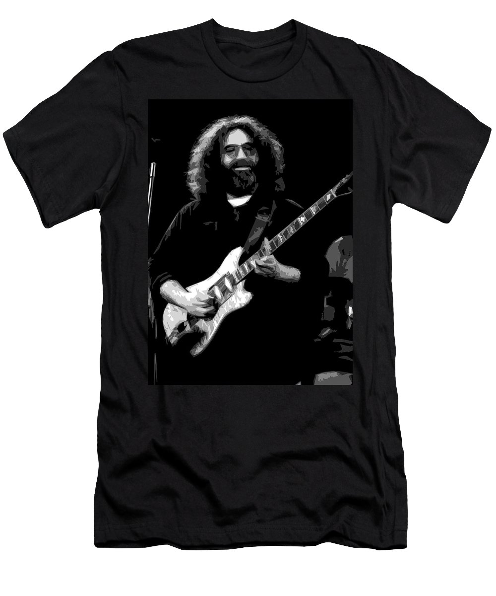 Jerry Garcia Men's T-Shirt (Athletic Fit) featuring the photograph Crazy Fingers by Ben Upham
