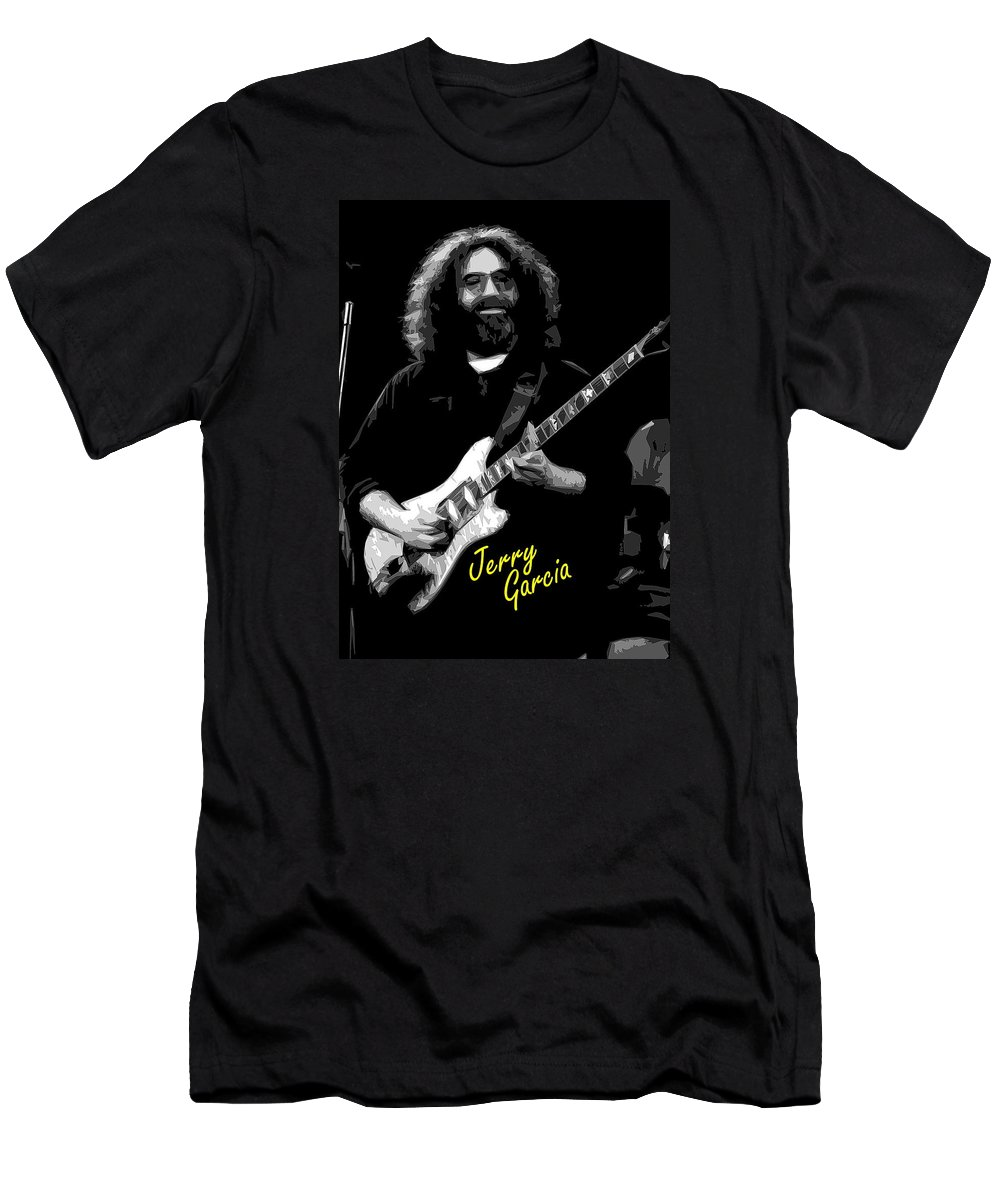 Jerry Garcia Men's T-Shirt (Athletic Fit) featuring the photograph Crazy Fingers 2 by Ben Upham