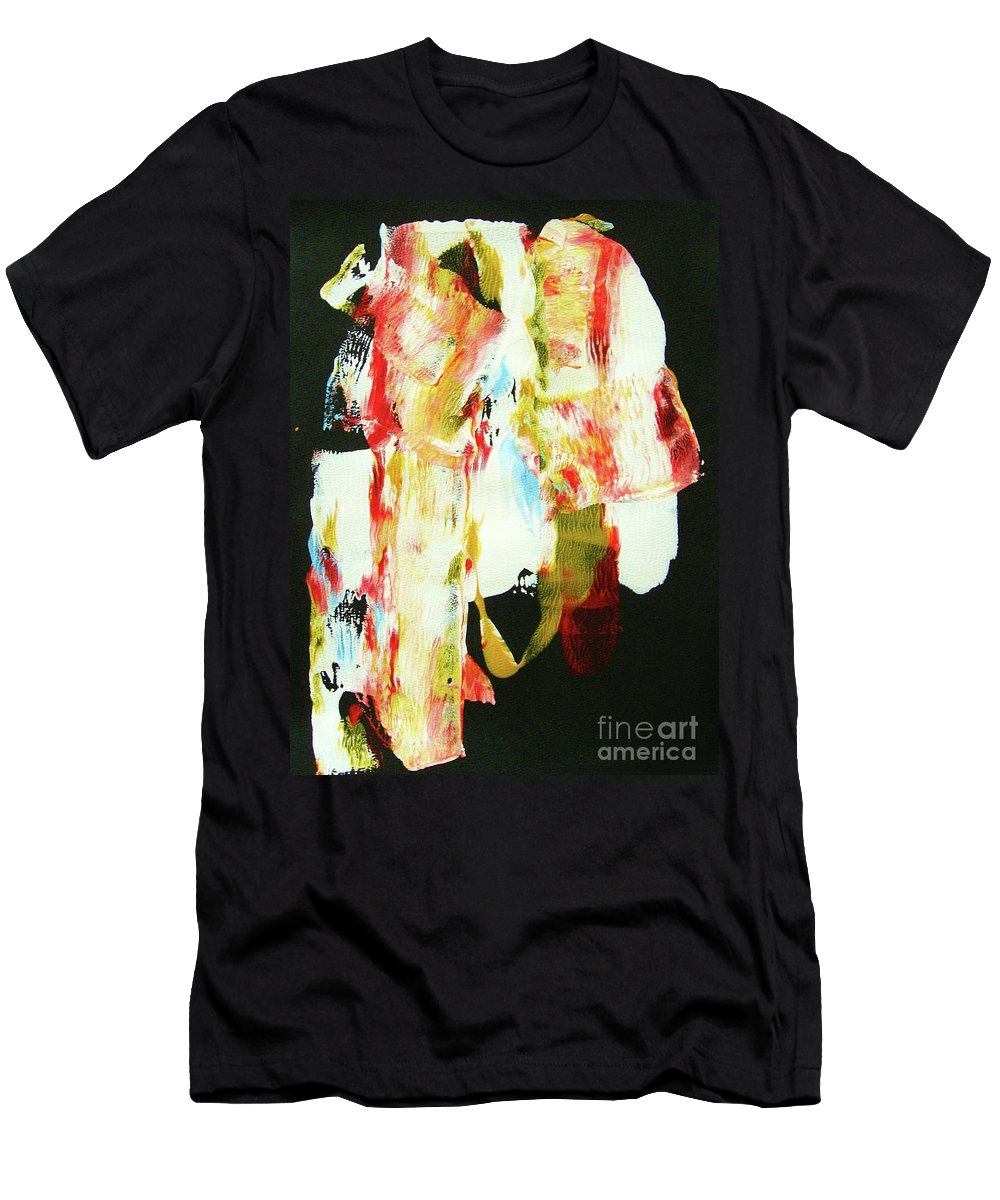 Abstraction Men's T-Shirt (Athletic Fit) featuring the painting Crazy Horse An American Hero by Roberto Prusso