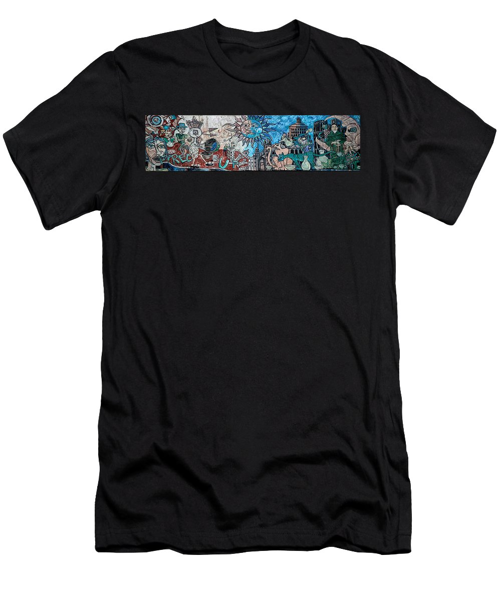 Asheville Men's T-Shirt (Athletic Fit) featuring the mixed media Creative Creating by John Haldane