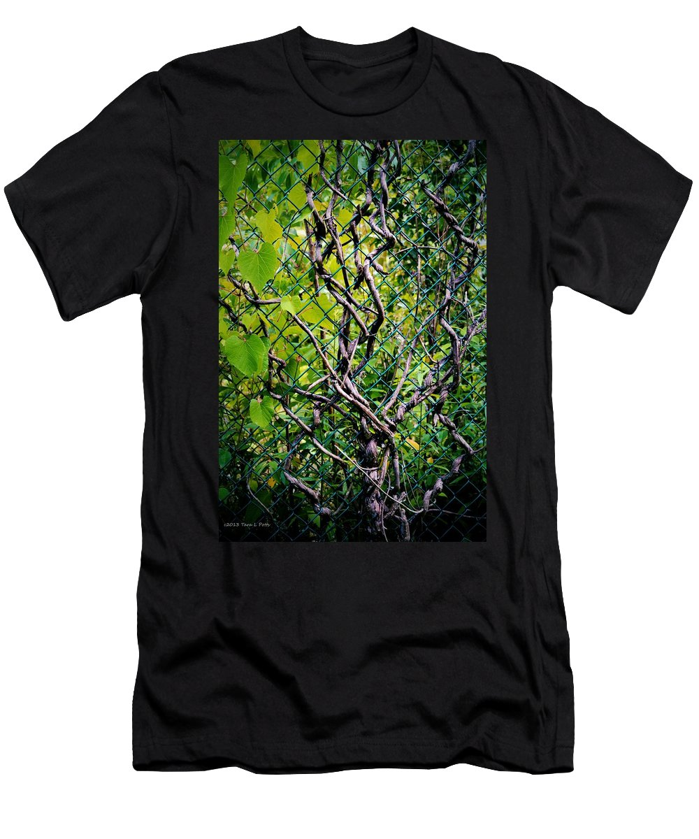 Vines Men's T-Shirt (Athletic Fit) featuring the photograph Creeping Vines by Tara Potts