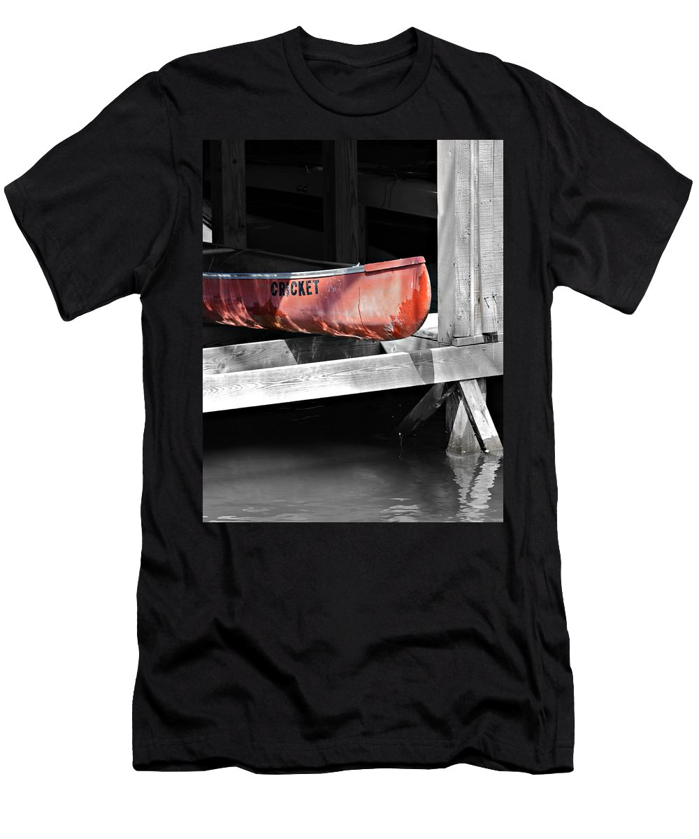 Boat Men's T-Shirt (Athletic Fit) featuring the photograph Cricket by Susan Leggett