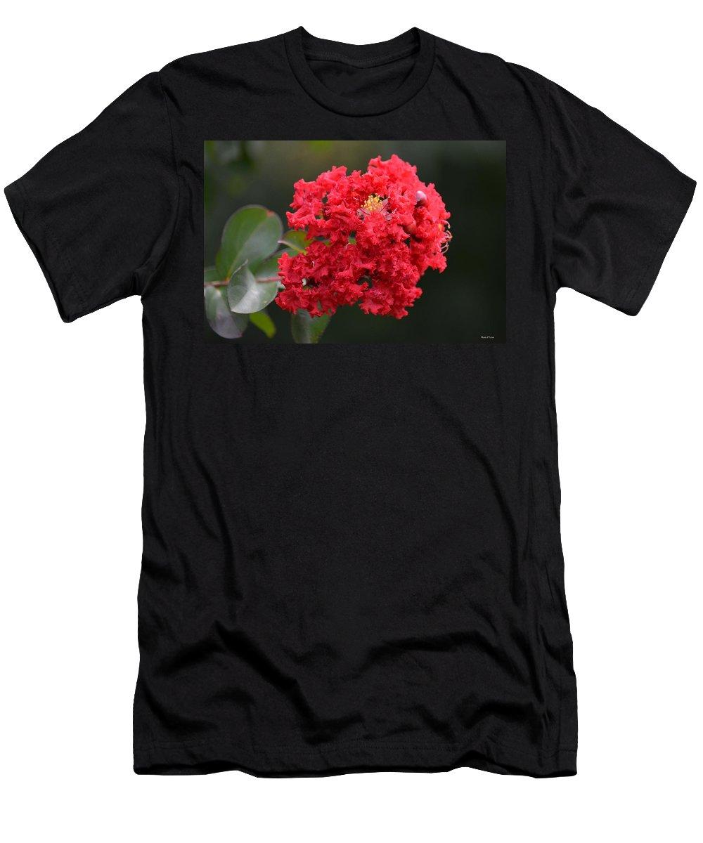 Crimson Crape Men's T-Shirt (Athletic Fit) featuring the photograph Crimson Crape by Maria Urso