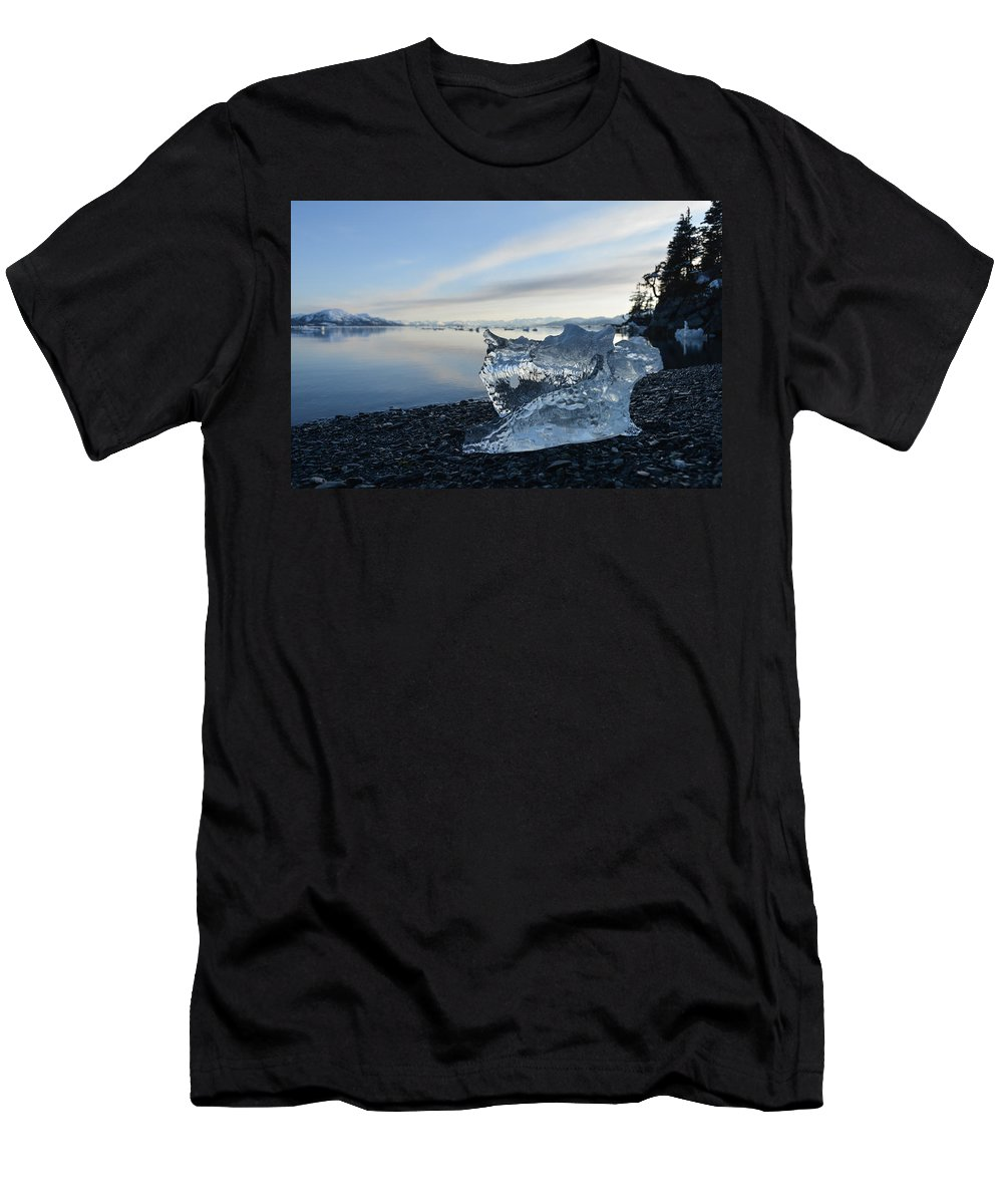 Ice Men's T-Shirt (Athletic Fit) featuring the photograph Crystal Entity by Ted Raynor